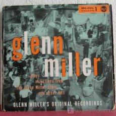 Discos de vinilo: GLENN MILLER PLAYS SELECTIONS FROM THE GLENN MILLER STORY PART 1, GERMANY 1956 EP RCA. Lote 7629467