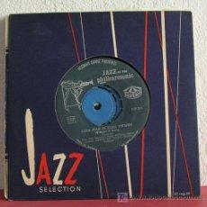 Discos de vinilo: STAN GETZ, BENGT HALLBERG, GUNNAR JOHNSON & ANDERS BURMAN ( INDIANA - WITHOUT A SONG ) 1956-SWEDEN. Lote 7630102