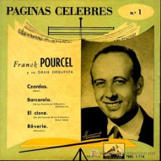 Discos de vinilo: FRANCK POURCEL - CZARDAS / BARCAROLA / EL CISNE / REVERIE - EP 1958. Lote 7632954