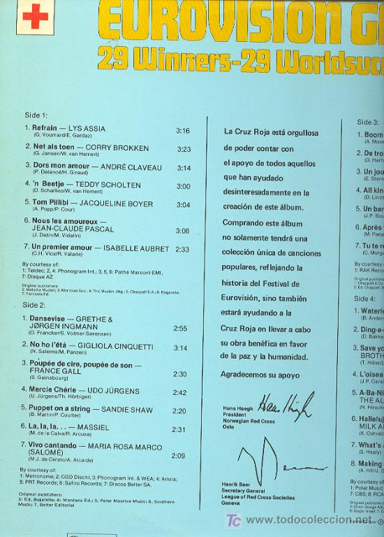 Discos de vinilo: EUROVISION GALA LP 2 CARPETA DOBLE CON FOTOS. 29 WINNERS 1956-1981 SPA 1981 2675 221 VER FOTO - Foto 2 - 7638339