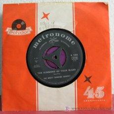 Discos de vinilo: THE MONTY SUNSHINE QUARTET (THE SUNSHINE OF YOUR BLUES - JACQUELINE ) SINGLE45 METRONOME. Lote 7668455