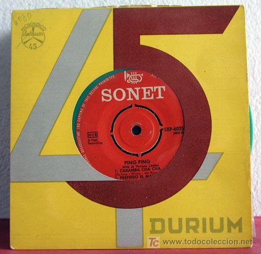 PING PING WITH VERLANE COMBO(SUCU SUCU .- MARIA DELLA MONTANA - CARAMBA CHA CHA - PREFIERO EL MAMBO) (Música - Discos - Singles Vinilo - Orquestas)