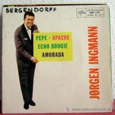 Discos de vinilo: JORGEN INGMANN ( PEPE - APACHE - ECHO BOOGIE - AMORADA ) SWEDEN EP45 METRONOME. Lote 7668821