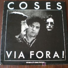 Discos de vinilo: COSES - VIA FORA ! - (MOVIEPLAY-1976) FOLK ROCK PROGRESIVO LP. Lote 27051331