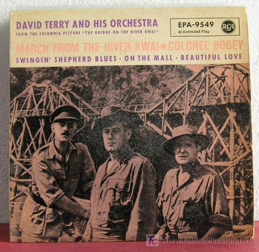 DAVID TERRY AND HIS ORCHESTRA (MARCH FROM THE RIVER KWAI - COLONEL BOGEY - ON THE MALL -...)USA-1958 (Música - Discos - Singles Vinilo - Orquestas)