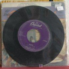 Discos de vinilo: NAT KING COLE ( GIVE ME YOUR LOVE - MADRID ) USA SINGLE45 CAPITOL. Lote 7686277