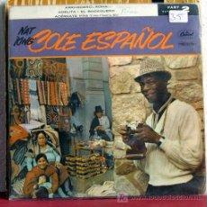 Discos de vinilo: NAT KING COLE 'COLE ESPAÑOL' (ARRIVEDERCI, ROMA - ADELITA - EL BODEGUERO - ACERCATE MAS)ENGLAND EP. Lote 7689042