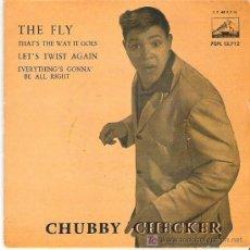 Discos de vinilo: CHUBBY CHECHECKER - THE FLY + 3 EP *** 1962. Lote 11521334