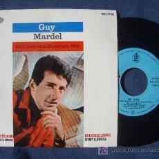 Discos de vinilo: GUY MARDEL : GRAN FESTIVAL DE EUROVISION 1965 EP HISPAVOX HAZ 277-05 , COMO NUEVO. Lote 7693481