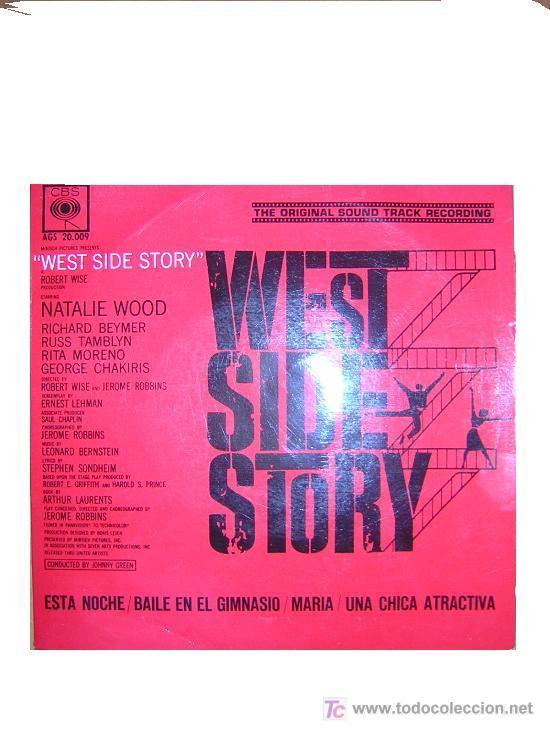 WEST SIDE STORY EP BANDA SONORA ORIGINAL BERNSTEIN CBS SPA 1960 (Música - Discos de Vinilo - EPs - Bandas Sonoras y Actores)