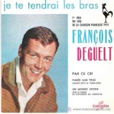 Discos de vinilo: FRANCOIS DEGUELT - PAR CE DRI + 3 EP *** 1959*** EXCEPCIONAL. Lote 11564639