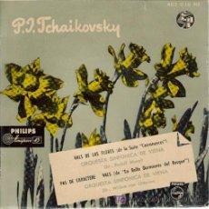 Discos de vinilo: ORQUESTA SINFONICA DE VIENA : TSCHAIKOVSKY VALS DE LAS FLORES , EP 1958 PHILIPS ESPAÑOL , NUEVO . Lote 8555623