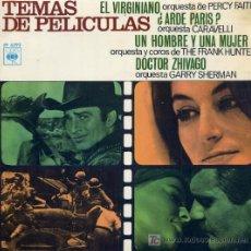 Discos de vinilo: TEMAS DE PELICULAS - PERCY FAITH / EL VIRGINIANO - CARAVELLI / ¿ARDE PARIS? (EP DE 1967). Lote 7810315