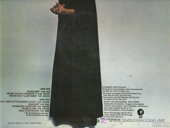 Discos de vinilo: GLORIA GAYNOR - NEVER CAN SAY GOOD BYE - ESPECIAL DISCOTECA ** MGM 1975 - Foto 2 - 11723584