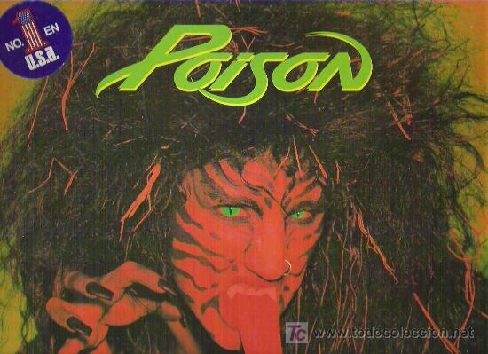 POISON - OPEN UP AND SAY .... AHH! *** SPANISH EDITION 1988 (Música - Discos - LP Vinilo - Heavy - Metal)