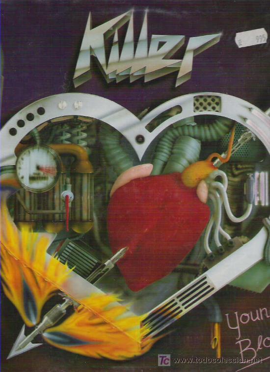 KILLER - YOUNG BLOOD *** INTERCORD 1986 (Música - Discos - LP Vinilo - Heavy - Metal)