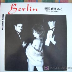 Discos de vinilo: MAXI - BERLIN - SEX (I'M A...) / INSTRUMENTAL VERSION - ORIGNAL ESPAÑOL, MERCURY 1983. Lote 7944044