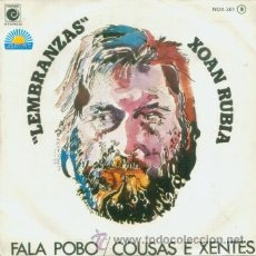 Discos de vinilo: XOAN RUBIA - FALA POBO - SINGLE MUY RARO DE VINILO DE 1978 CANTADO EN GALLEGO. Lote 13897668