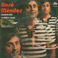 Discos de vinilo: XOSE MENDES - MANOLIÑO - SINGLE MUY RARO DE VINILO DE 1973 CANTADO EN GALLEGO. Lote 13897667