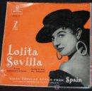 Discos de vinilo: SINGLE LOLITA SEVILLA. ORQUESTA DEL TEATRO ALBENIZ. Lote 9571762
