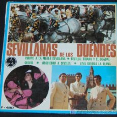 Discos de vinilo: SINGLE SEVILLANAS DE LOS DUENDES. PIROPO A LA MUJER SEVILLANA. Lote 8049027
