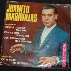 Discos de vinilo: SINGLE JUANITO MARAVILLAS. IREMOS JUNTOS MAÑANA. Lote 8050190