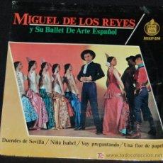 Discos de vinilo: SINGLE MIGUEL DE LOS REYES Y SU BALLET DE ARTE ESPAÑOL. DUENDES DE SEVILLA. Lote 8050322