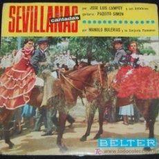 Discos de vinilo: SINGLE SEVILLANAS CANTADAS. JOSE LUIS CAMPOY Y SUS ANDALUCES. Lote 8051256