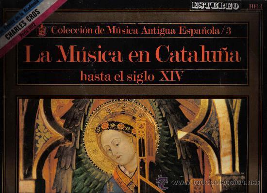 LP ATRIUM MUSICAE - LA MUSICA EN CATALUÑA HASTA EL SIGLO XIV (Música - Discos - LP Vinilo - Clásica, Ópera, Zarzuela y Marchas)