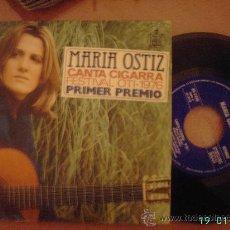 Discos de vinilo: MARIA OSTIZ. CANTA CIGARRA Y QUIERO ESTAR A TU LADO. 1º PREMIO FESTIVAL OTI 1976. SINGLE 45 RPM.. Lote 25635742