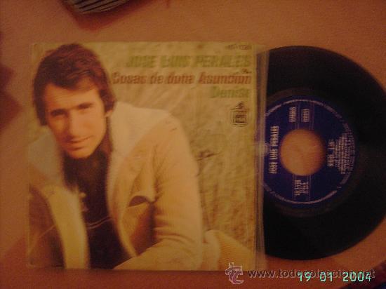 JOSE LUIS PERALES. COSAS DE DOÑA ASUNCIÓN / DENISE. SINGLE VINILO 45 RPM. (Música - Discos - Singles Vinilo - Cantautores Españoles)