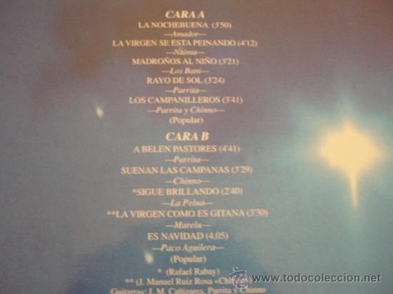 Discos de vinilo: LP. NOCHEBUENA GITANA. Muy buena conservación. Año 1990. - Foto 2 - 8105233