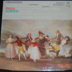 Discos de vinilo: LP GRANADOS, FALLA, ALBENIZ. ORQUESTA SINFONICA DE LA RTV ESPAÑOLA. Lote 8148336