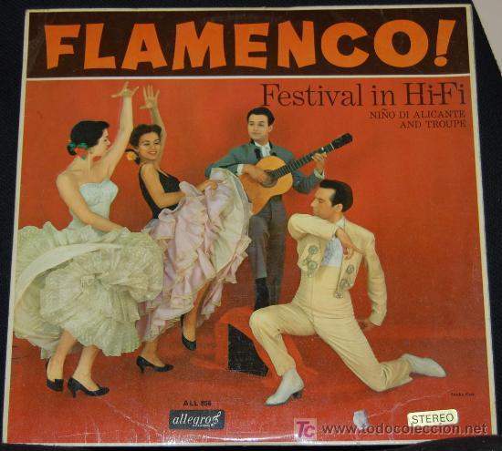LP FLAMENCO! FESTIVAL IN HI-FI. NIÑO DI ALICANTE AND TROUPE (Música - Discos - LP Vinilo - Flamenco, Canción española y Cuplé)