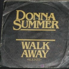 Discos de vinilo: SINGLE DONNA SUMMER. WALK AWAY. Lote 8231258