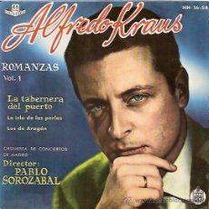 Discos de vinilo: ALFREDO KRAUS EP SELLO HISPAVOX AÑO 1959 VOL.1. Lote 8242377