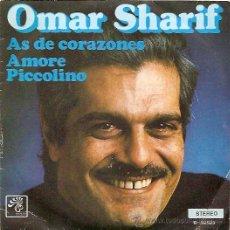 Discos de vinilo: OMAR SHARIF SINGLE SELLO BOCACCIO AÑO 1974 PROMOCIONAL. Lote 8242404