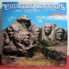 Discos de vinilo: COUNTRY LEGENDS ( JOHNNY CASH, JIM REEVES, DON WILLIAMS, KENNY ROGERS... ) ENGLAND-1980 LP33. Lote 8250255