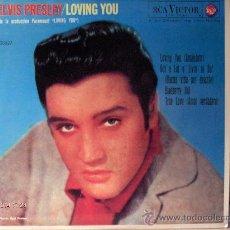 Discos de vinilo: ELVIS PRESLEY EP ------ LOVING YOU. Lote 8290446