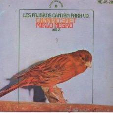 Discos de vinilo: LOS PAJAROS CANTA(CANTOS DE PAJAROS),CANARIO SMET. Lote 8319044