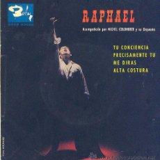 Discos de vinilo: RAPHAEL ACOMPAÑADO POR MICHEL COLOMBIER EP 1963 SBGE 83080 BARCLAY. Lote 8368735