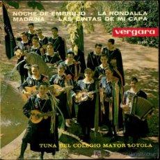 Discos de vinilo: TUNA DEL COLEGIO MAYOR LOYOLA - NOCHE DE EMBRUJO / LA RONDALLA / MADRINA - EP 1963. Lote 8445958