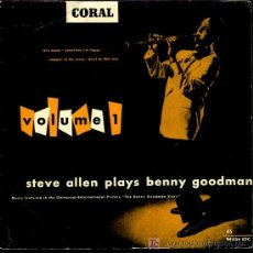 Discos de vinilo: STEVE ALLEN PLAYS BENNY GOODMAN - LET'S DANCE / SOMETIMES I'M HAPPY, ETC - EP 196?. Lote 16886482