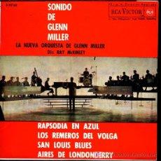 Discos de vinilo: LA NUEVA ORQUESTA DE GLENN MILLER - RAPSODIA EN AZUL / LOS REMEROS DEL VOLGA - EP 1964. Lote 8549318