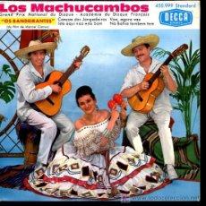Discos de vinilo: LOS MACHUCAMBOS - CANCAO DOS JANGADEIROS / VAE, AGORA VAE / ISTO AQUI NAO ESTA BOM - EP. Lote 27296692
