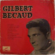 Discos de vinilo: GILBERT BECAUD - RARO LP DE 10 PULGADAS, 25 CM EDITADO POR LA VOZ DE SU AMO AÑOS 50 - 10 CANCIONES. Lote 27327918