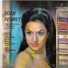 Discos de vinilo: EP LOLA FLORES - LERELE + 3 - SELLO COLUMBIA DEL AÑO 1962. Lote 14137111