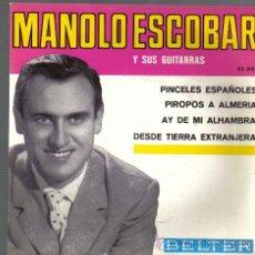 Discos de vinilo: EP MANOLO ESCOBAR - PINCELES ESPAÑOLES + 3 : SELLO BELTER , AÑO 1959. Lote 15555861