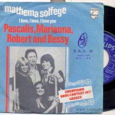 Discos de vinilo: PASCALIS, MARIANNA, ROBERT AND BESSY: MATHEMA SOLFEGE (GRECIA 1977). Lote 19058261