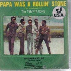Disques de vinyle: SINGLE THE TEMPTATIONS - PAPA WAS A ROLLIN´ STONE - PEDIDO MINIMO 9 EUROS. Lote 23223766